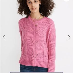 Madewell Charley Pullover Sweater in Pink NWOT